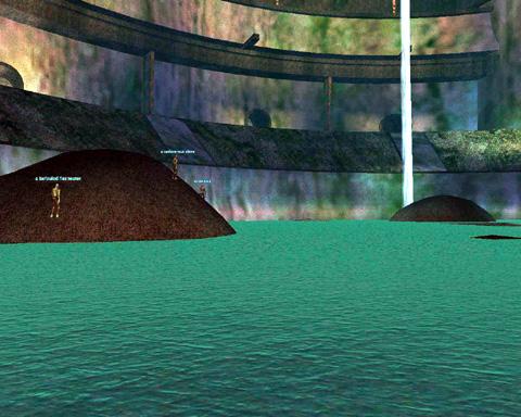水に浸かった円形競技場