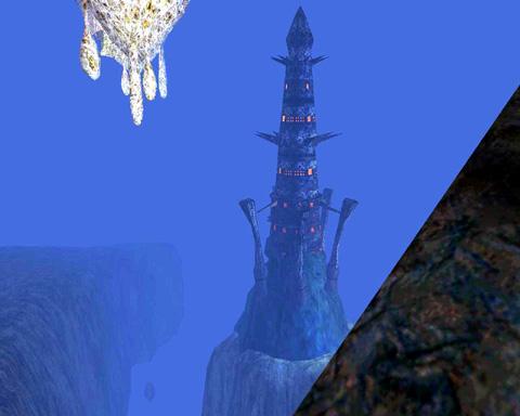 タワーの全景が見えてくる