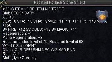 Petrified Korlach Stone Shield