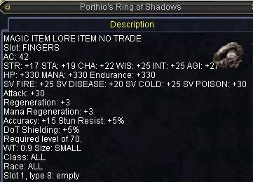 Porthio\'s Ring of Shadows