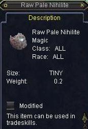 Raw Pale Nihilite