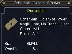 Schematic: Golem of Power