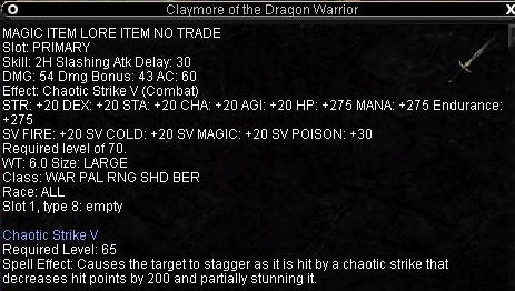 Claymore of the Dragon Warrior