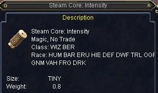 Steam core:Intensity