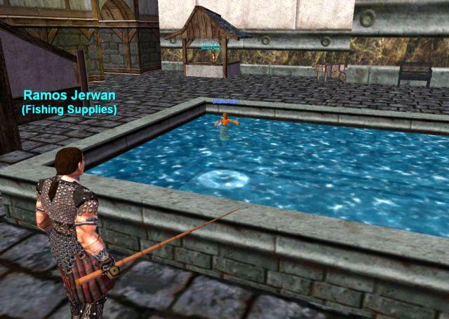 泳ぎの練習をするUlanchan