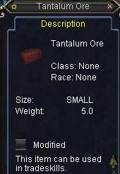 Tantalum Ore