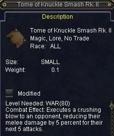 Tome of Knucke Smash Rk II