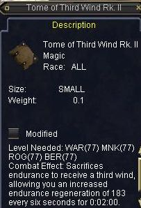 Tome of Third Wind Rk. II
