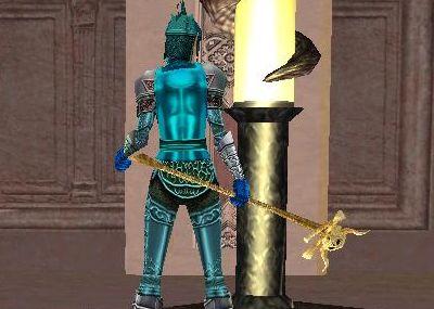 謎の骸骨付き杖?