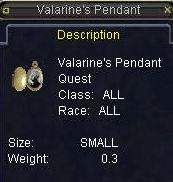 Valarine\'s Pendant